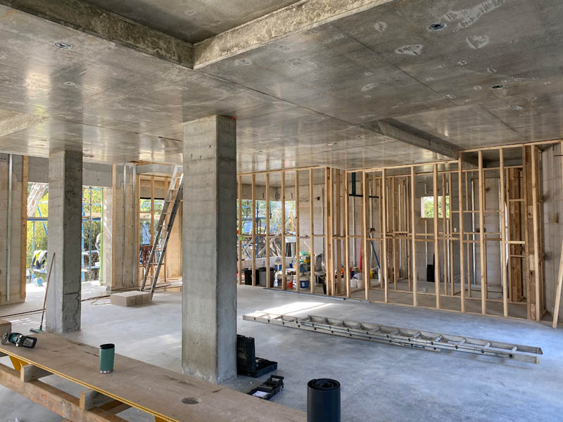 concrete suspended slab construction