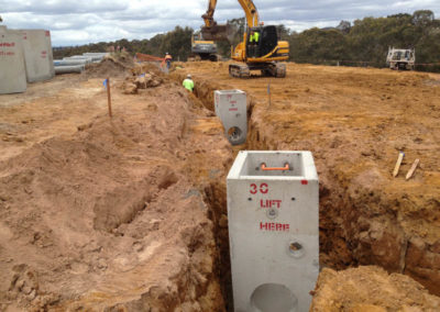 trenching for new drainage works